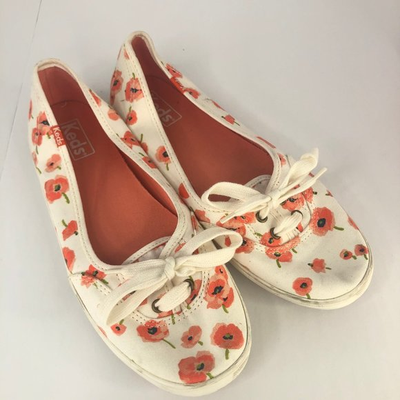 Keds Shoes - Keds Little Toe Floral Sneakers Size W7.5 Shoe